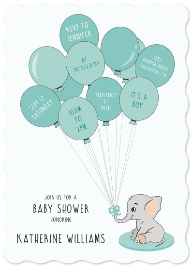 baby shower invitations - young elephant by Chielo Gabucan