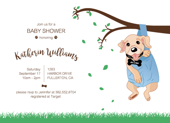baby shower invitations - cheerful puppy by Chielo Gabucan