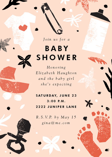 baby shower invitations - baby shower cut outs by Eleanor Mayrhofer