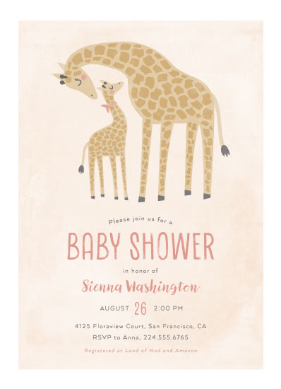 baby shower invitations - Giraffe Love by Ink and Letter