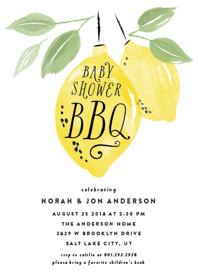 baby shower invitations - Baby Shower BBQ by Robert and Stella