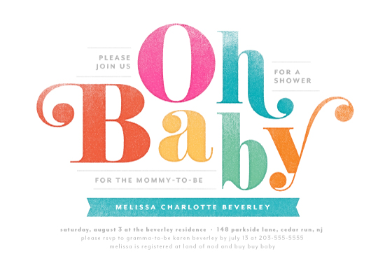 baby shower invitations - Oh Baby! by Laura Moyer