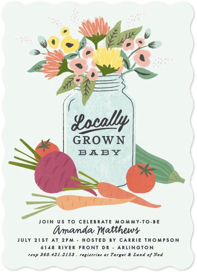 baby shower invitations - Farmers Market by Karidy Walker
