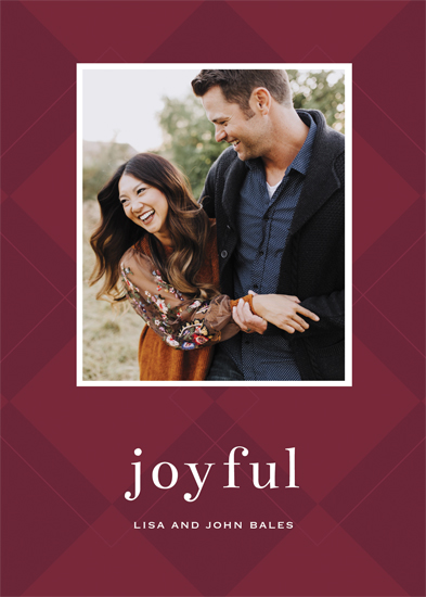 holiday photo cards - Modern Argyle by Gray Star Design