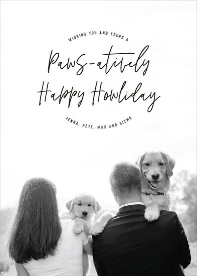 holiday photo cards - Paws-atively Happy Howliday by Hooray Creative