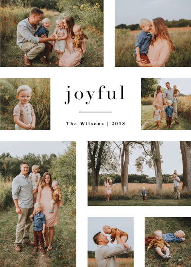 holiday photo cards - editorial by Jennifer Wick