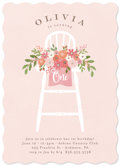 birthday party invitations - Freshly cut flowers by Jennifer Wick