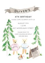 Woodland Camping Birthd... by Cake and Flower Paper