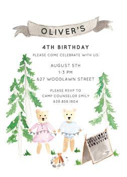 Woodland Camping Birthday