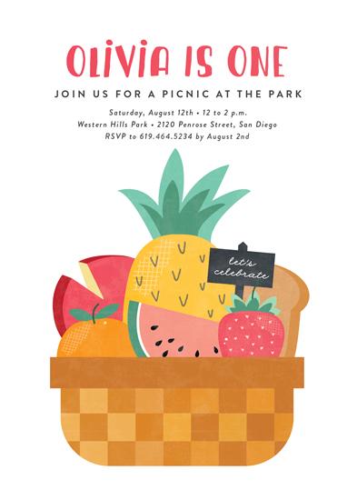birthday party invitations - Park Picnic by Erica Krystek