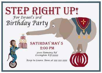 Step Right Up! Birthday Invitation