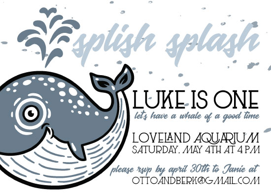 birthday party invitations - Splish Splash by Otto and Berk