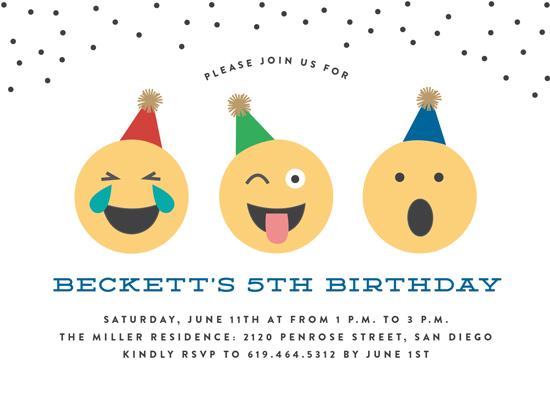 birthday party invitations - Emoji Party by Erica Krystek