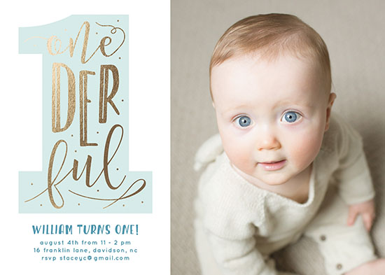birthday party invitations - Onederful by Christina Novak
