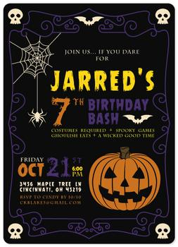Spooky Halloween Birthday