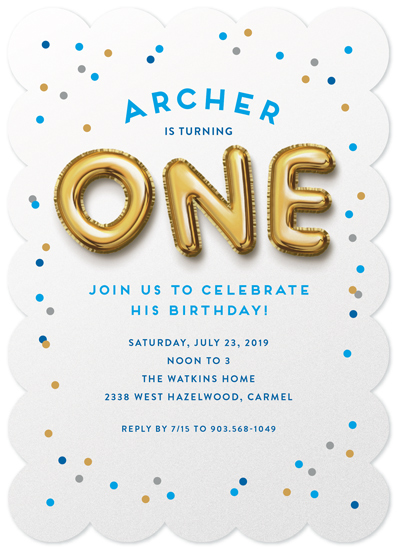 birthday party invitations - Balloons by Laura Bolter Design