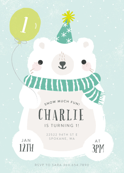 birthday party invitations - Polar Party by Itsy Belle Studio