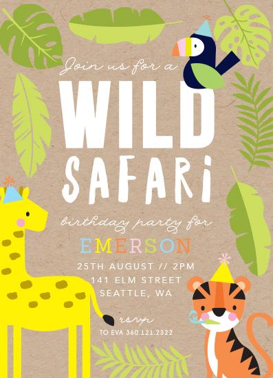 birthday party invitations - Wild Safari by Hudson Meet Rose