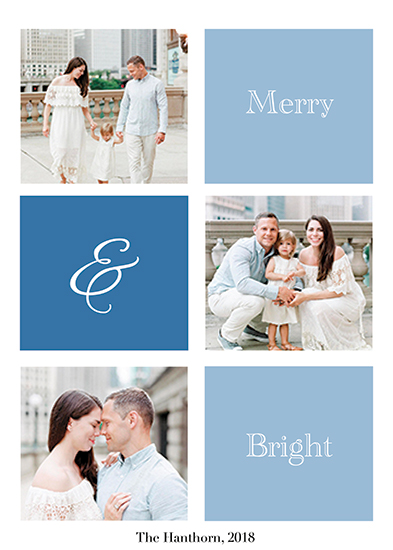 holiday photo cards - Love in blue by ALIX SORDET