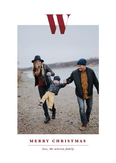 holiday photo cards - Minimal Monogram by Ekko Studio