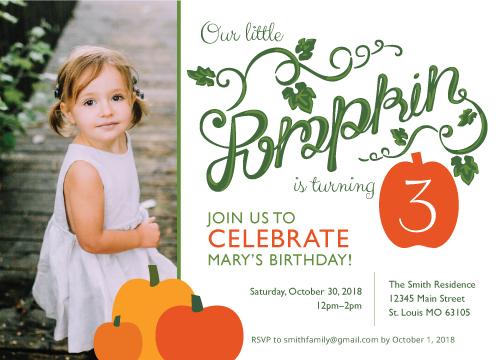 birthday party invitations - Pumpkin Birthday by Adrian Aquilino