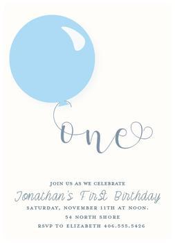 one balloon birthday