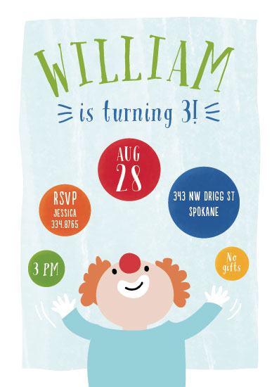 birthday party invitations - Clowning Around by Kate Sorensen