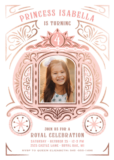 birthday party invitations - Princess Carriage by Paper Sun Studio