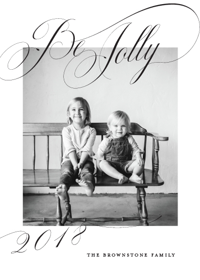 holiday photo cards - Jolliest by Toast & Laurel