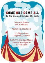 circus b-day invitation by Jennifer Warren