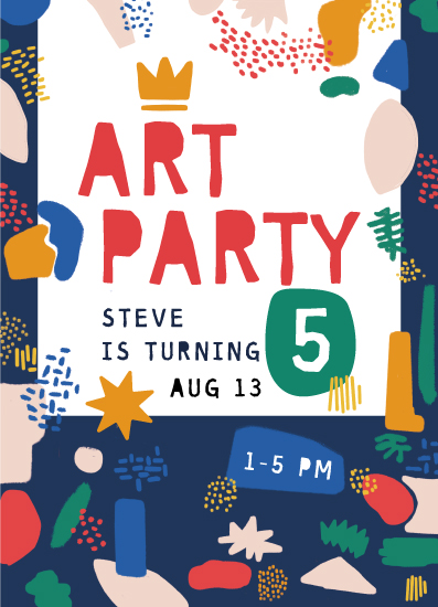 birthday party invitations - Art Party Colorful by Jessica Sandoval