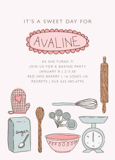 birthday party invitations - Baking Bonanza by Betsy Siber