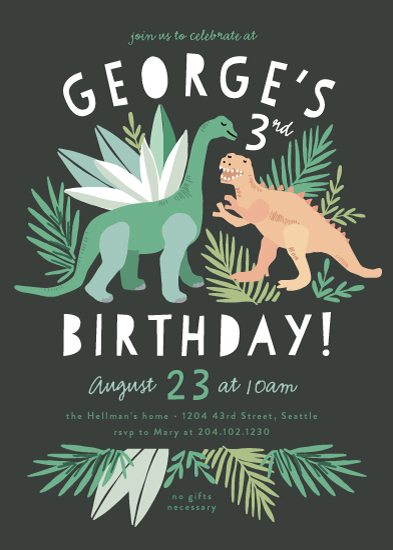 birthday party invitations - Dino Friends by Alethea and Ruth