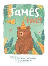 Birthday Forest Bear by Lucia Baertl