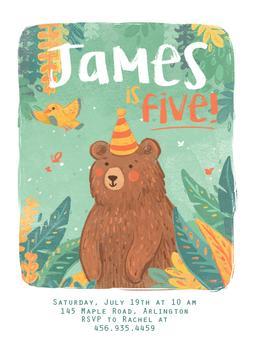 Birthday Forest Bear