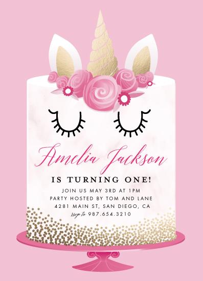 birthday party invitations - Unicorn Cake by Katie Zimpel