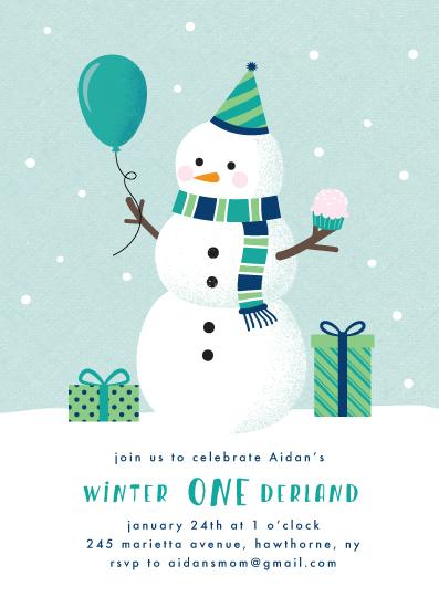 birthday party invitations - ONEderland by Annie Holmquist