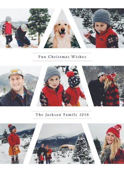 holiday photo cards - Family Christmas Tree by Playground Prints