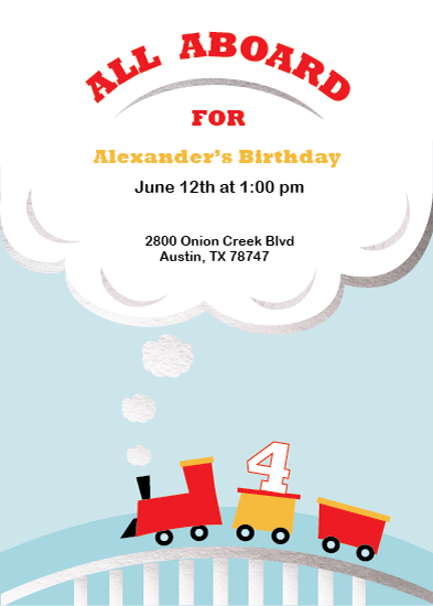 birthday party invitations - All Aboard Birthday by Cecilia McMahon