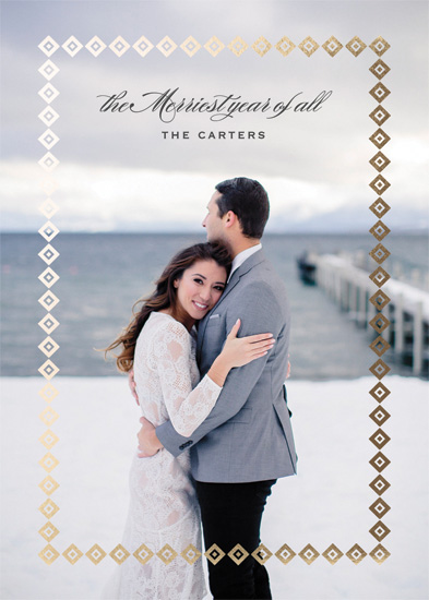 holiday photo cards - Merriest Year of All by Gray Star Design