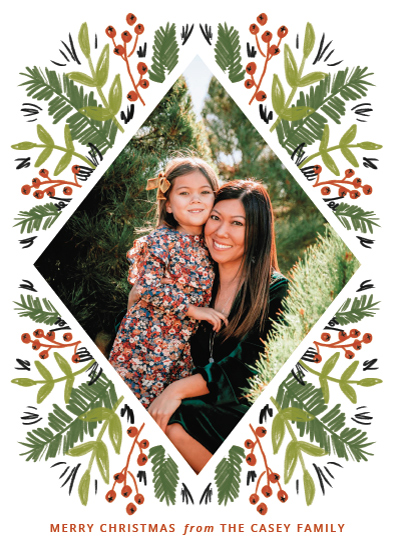 holiday photo cards - Framed in Foliage by Kayla King