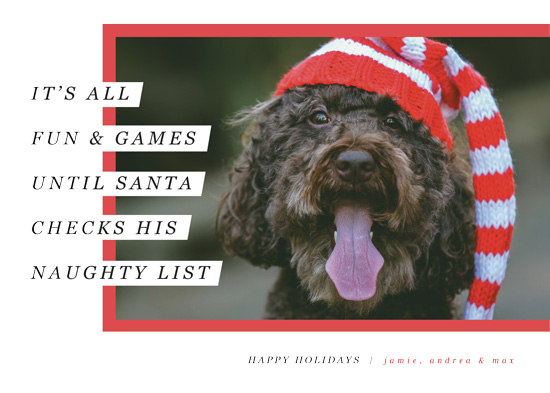 holiday photo cards - Santa's Pet by Pixel and Hank