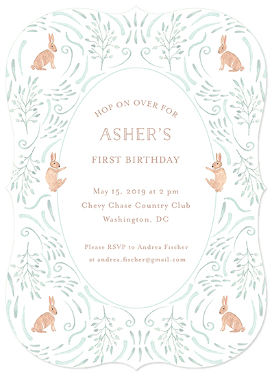 birthday party invitations - Hop on Over II by Hallie Fischer