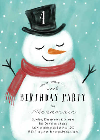 birthday party invitations - Snowman by Susanne Kasielke