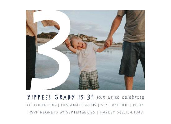 birthday party invitations - Yippee! by Betsy Siber