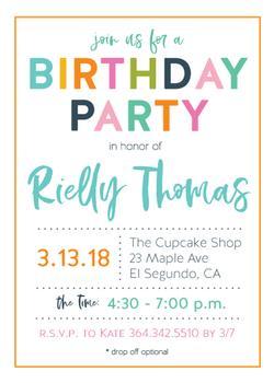 Fun and Festive Birthday Invitaiton