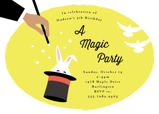 birthday party invitations - Abra Cadabra by Kampai Designs