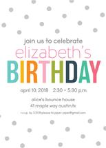 Gray Polka Dot Birthday... by Paper Etiquette