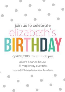 Gray Polka Dot Birthday Fun