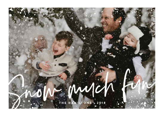 holiday photo cards - snow much fun by Susan Asbill